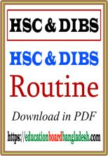 HSC & DIBS Routine Download
