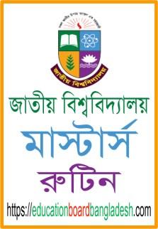 National University Masters Final Year Exam Routine