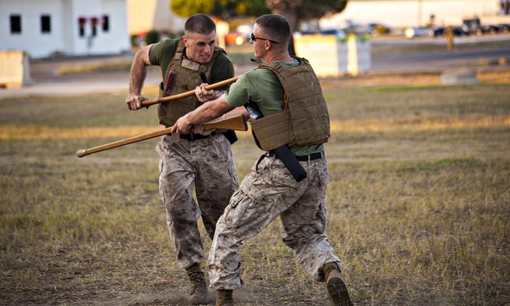MCMAP - Программа боевых искусств корпуса морской пехоты США. Отработка элементов штыкового боя, условный спарринг