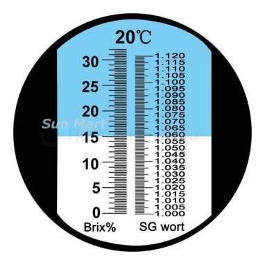 шкала рефрактометра