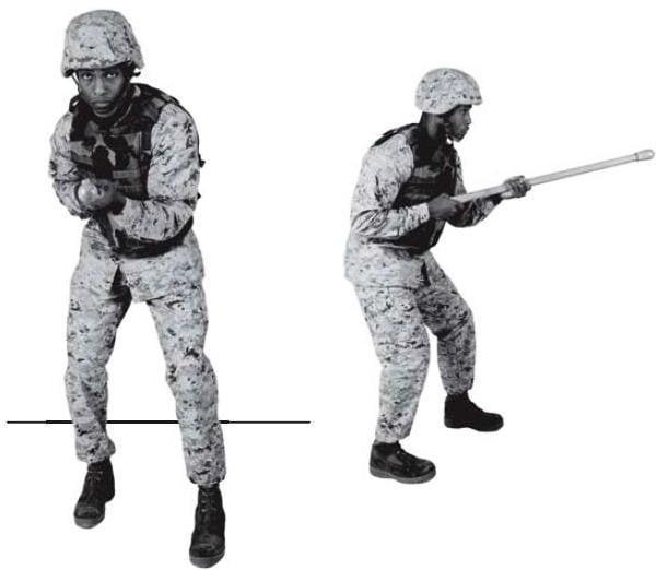 Рис. 3-1. Модифицированная боевая стойка.