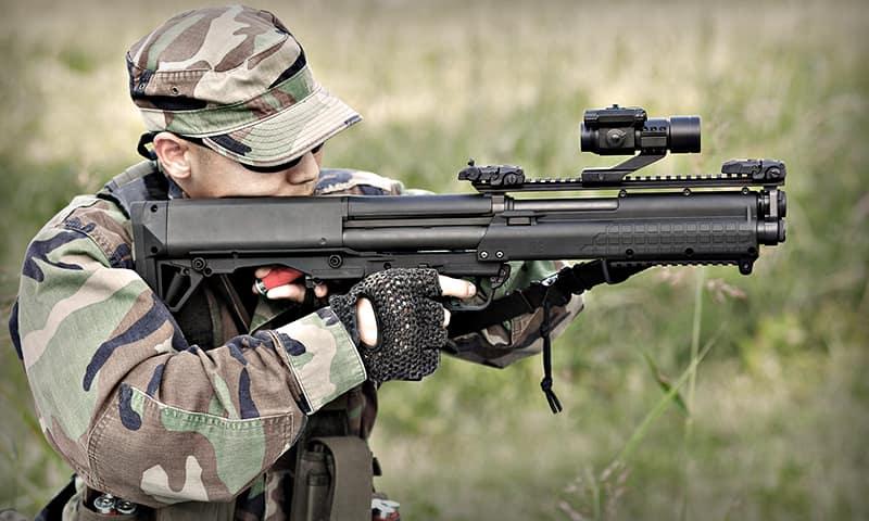KelTec KSG Bullpup Shotgun .12 gauge - Лучшее огнестрельное оружие для выживания и самообороны - Топ-5 «пушек» для различных ситуаций