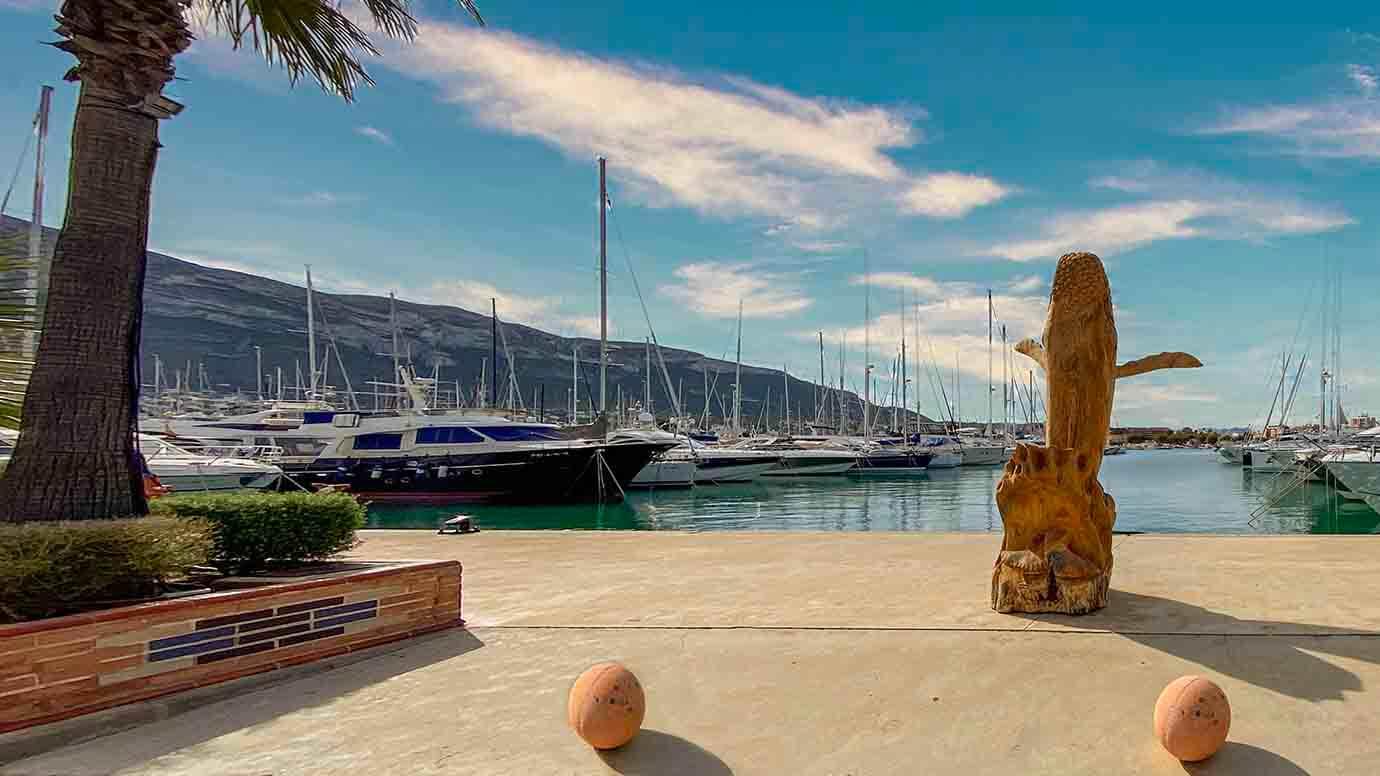 Zeiele, jachthavens, Costa Blanca, Denia