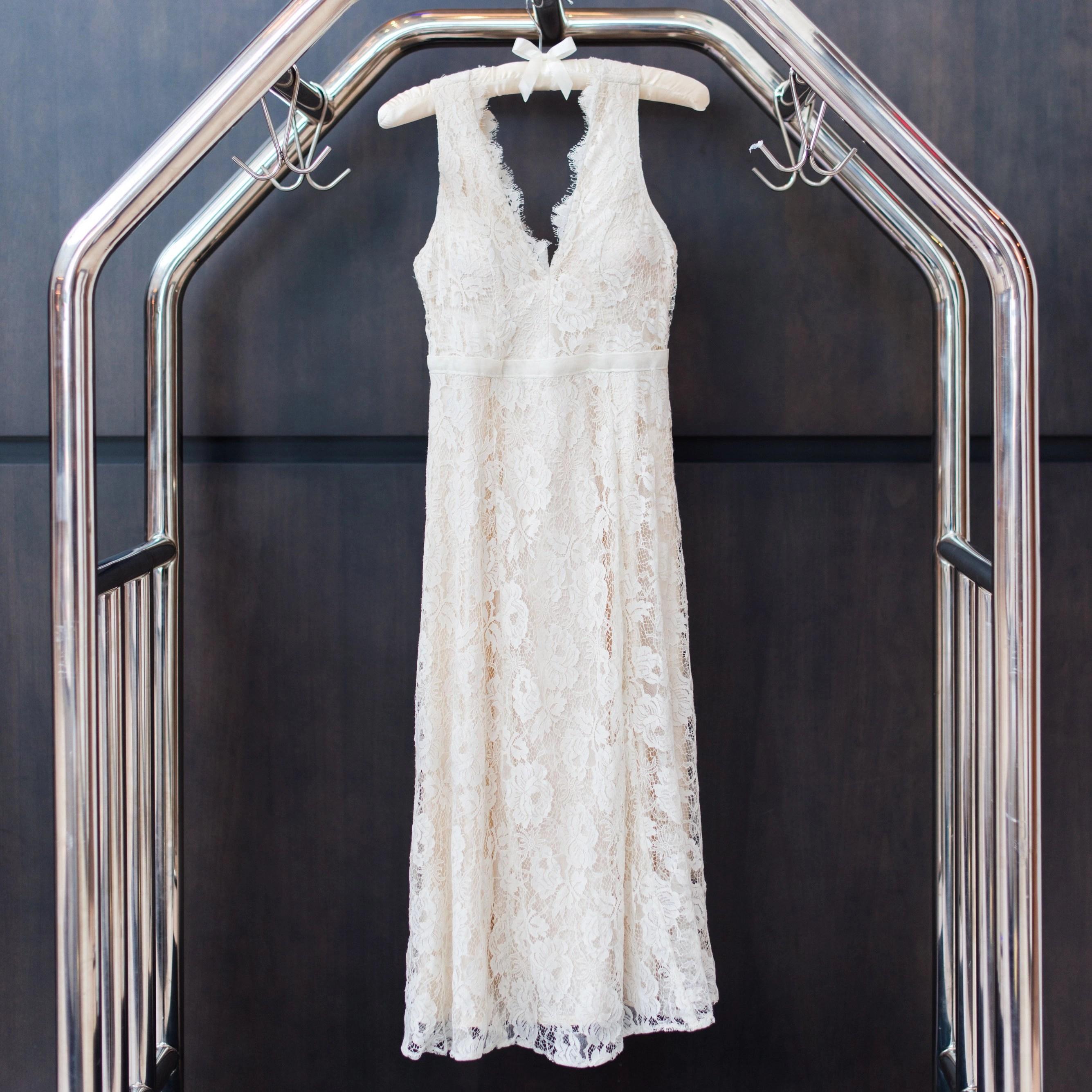 Erin's wedding dress