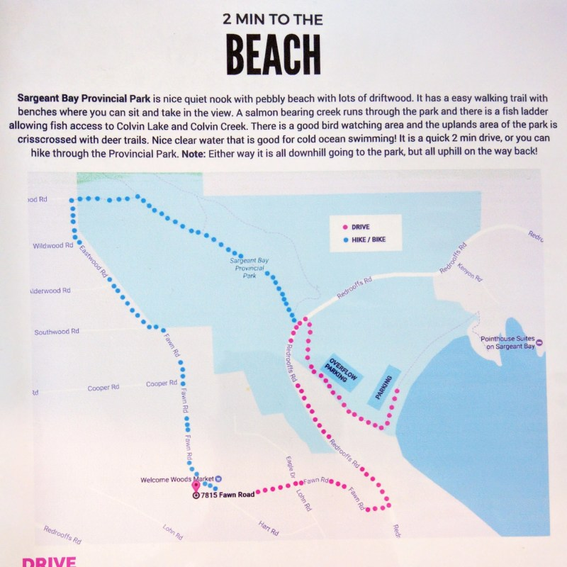 directions to the beach