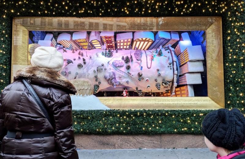 Christmas window at Macy's
