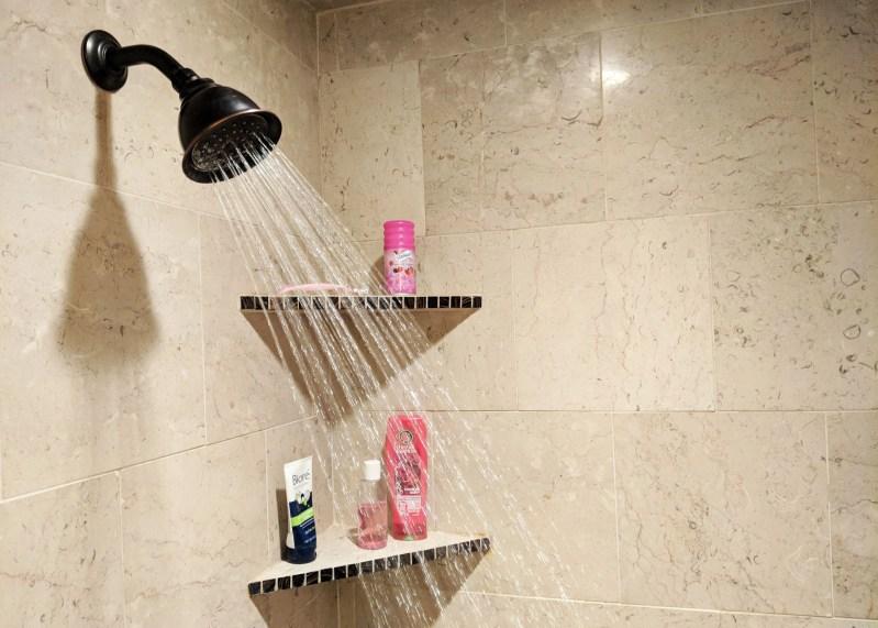 shower head in modern bathroom