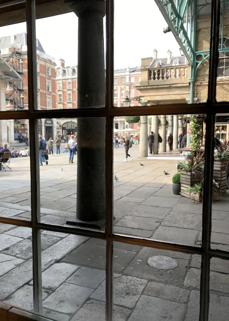 covent gardens from a window
