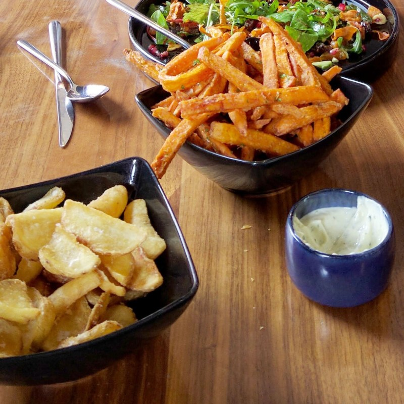 delicious fries at The Vault in Nailsworth, England