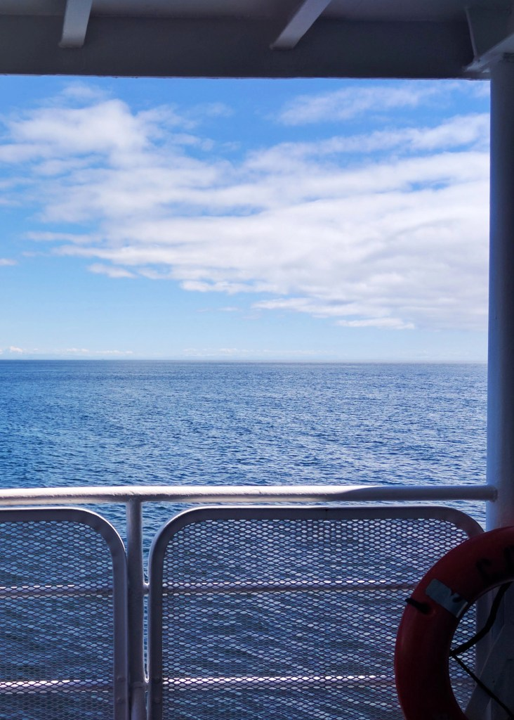 a car ferry going between Victoria Canada and the US