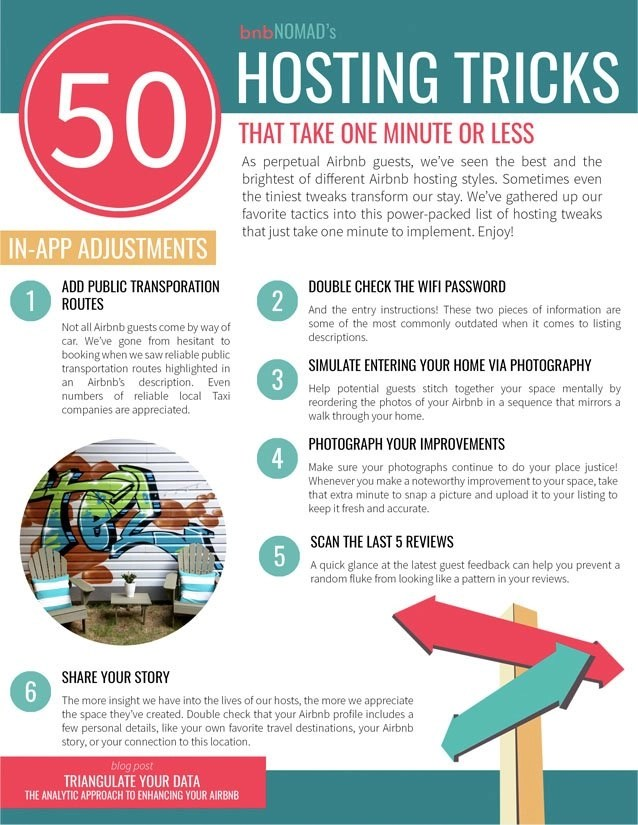 50 Airbnb Hosting Tips that Take One Minute or Less