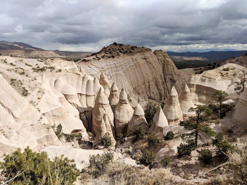 Looking down on the Tent Rocks from above