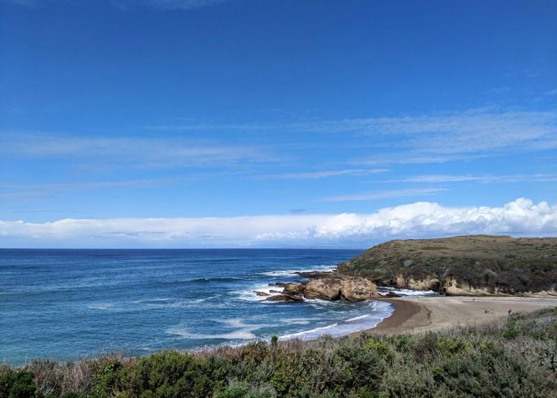 ocean and beach off California Highway 1