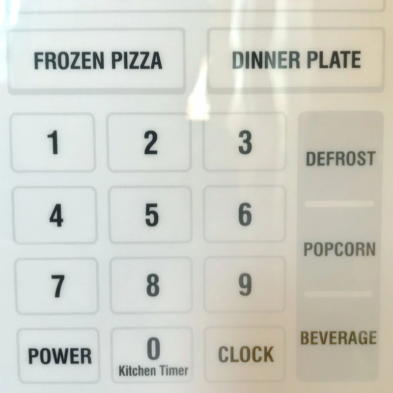 microwave buttons
