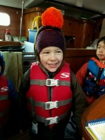 Fun times on the Christmas boat with his buds