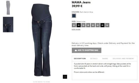 A similar pair of mama jeans - 39.99