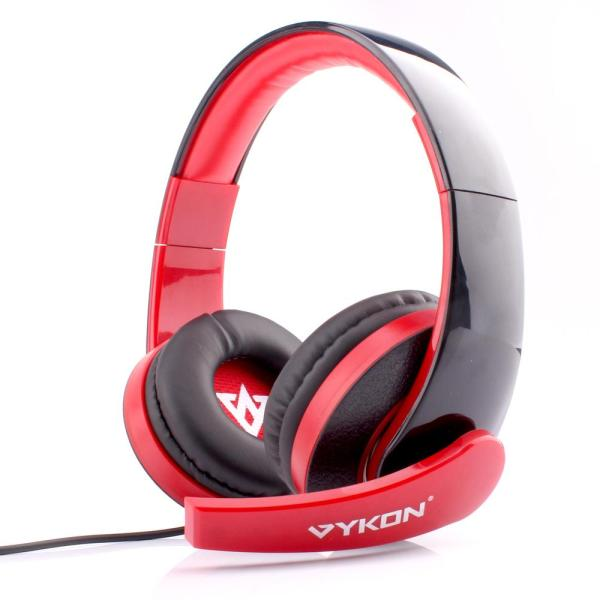 Original VYKON ME222 Professional Gaming Headphones Deep Bass Earphone USB Computer Headset with Mic Volume Control