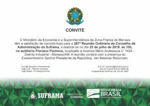 Convite Bolsonaro Suframa