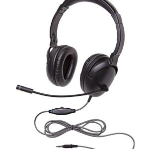 Califone 1017MT NeoTech Plus Headset with Gooseneck Microphone, 3.5mm Plug