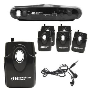 Hamilton Buhl Assistive Listening System with 6 Receivers