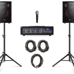 Alesis PA System in a Box Bundle 280-WATT
