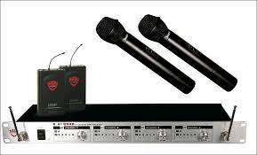 Nady U-41 Lavalier and Handheld Professional 4-Channel UHF Wireless Mic System