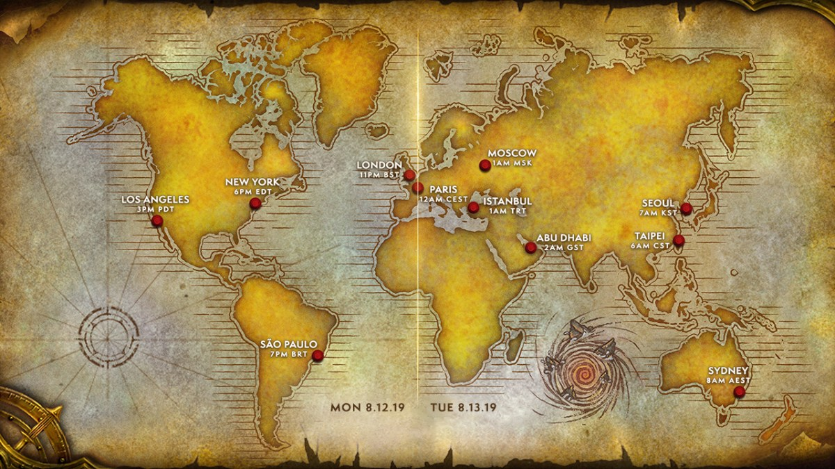 Global WoW Classic Launch Date and Time