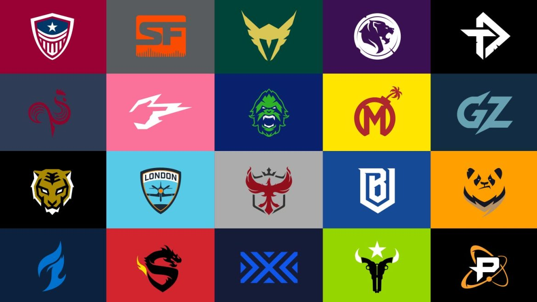 Loghi del team di Overwatch League