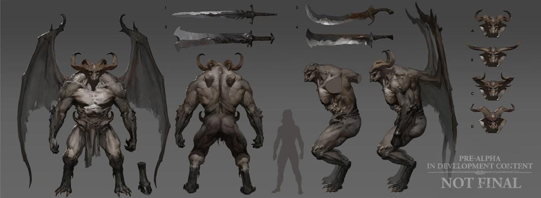 Demone base di Diablo IV - Concept art