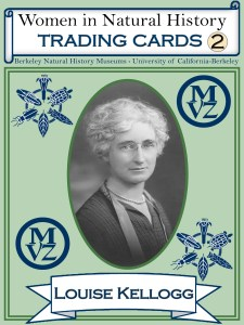 Louise Kellogg, trading card front