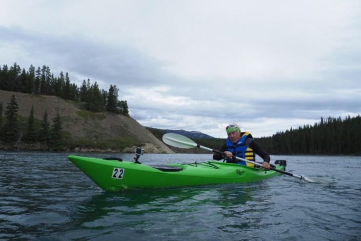 Le Brévinier Jean-Philippe Patthey navigue en Alaska, quelque part entre Kaltag et Grayling. D'ici une petite semaine, il pourrait atteindre son objectif, la mer de Béring. (J.-P. Patthey)