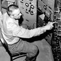 Clyde Cowan (1919-1974) conducting the neutrino experiment, (c. 1956)