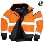 Abbigliamento Pro bomber bicolore alta visibilità arancio