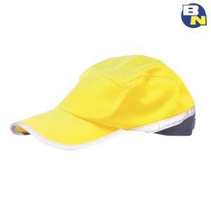 Abbigliamento-Pro-cappellino-con-visiera-ad-alta-visibilità-giallo