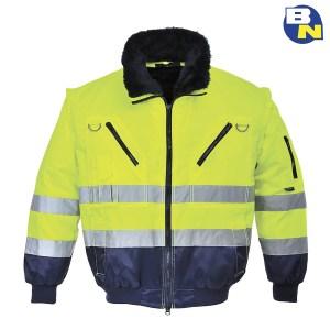 Abbigliamento-Pro-giacca-3in1-alta-visibilità-gialla