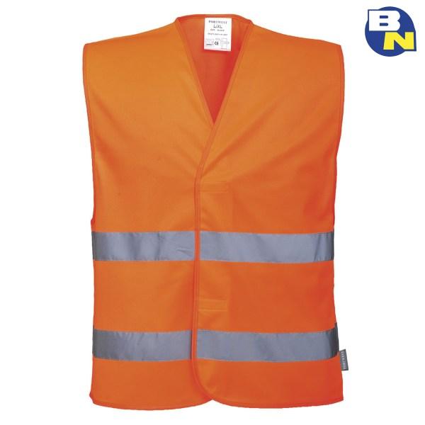 Abbigliamento-Pro-gilet-ad-alta-visibilità-con-due-bande-arancio