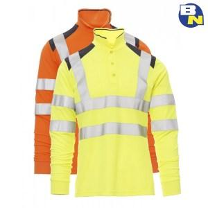 Abbigliamento-Pro-polo-ad-alta-visibilità-a-manica-lunga