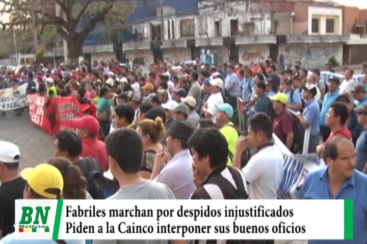 Trabajadores Fabriles marchan y denuncian persecución judicial contra dirigentes, amenazan a expocruz