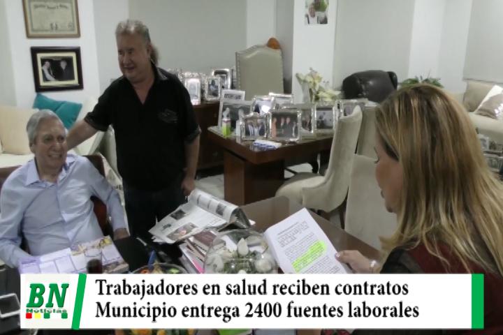 Alcaldía entrega contratos a trabajadores del sector salud y buscan que se vuelvan en items