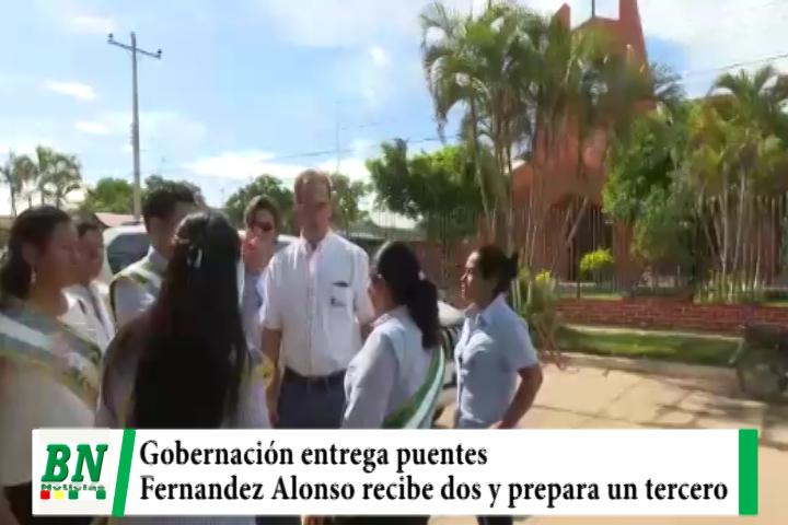 Gobernación entrega dos puentes y prepara un tercero para municipio de Fernandez Alonso