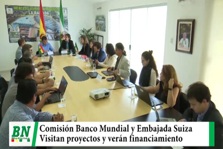 Comisión Banco Mundial y Embajada Suiza visitan proyectos en Santa Cruz para financiamiento