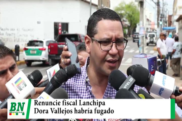 Monasterio cree que Dora Vallejos era palo blanco de autoridad del MAS, habría fugado y pide renuncia de Lanchipa