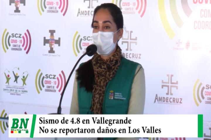 Sismo en Vallegrande de 4,8 no causó daño en los municipios donde se sintió