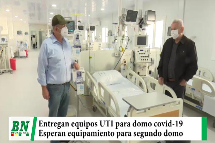 Alerta coronavirus, Entregan equipos UTI para primer domo en el Hospital japones y esperan para el segundo