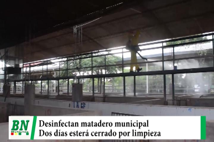 Desinfectan el Matadero Municipal de La Pampa de la Isla y realizan limpieza profunda