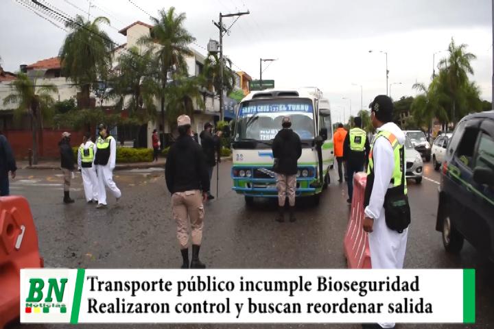 Transporte público incumple Bioseguridad y verán sanciones y salida de vehículos