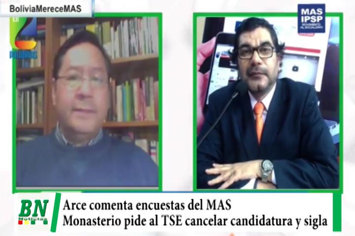 Arce comenta encuestas realizadas por el MAS y Monasterio pide cancelar candidatura y sigla