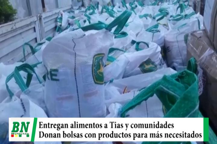 Entregan bolsas de alimentos a trabajadoras de Guarderias, MDRyT envía a comunidades, donan productos para más necesitados