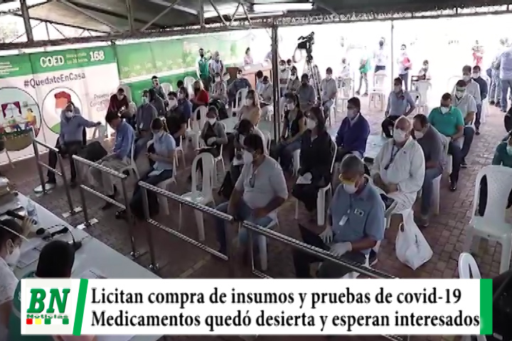 Gobernación licitó compra de insumos y pruebas para covid-19, medicamentos quedó desierta y hay nueva convocatoria