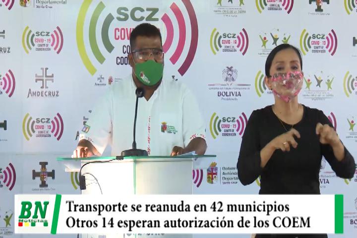 Transporte suma 42 municipios con servicio mientras otros 14 esperan autorización de sus COEM